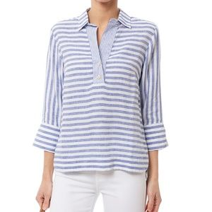 HINSON WU Aileen Striped Button Back Shirt